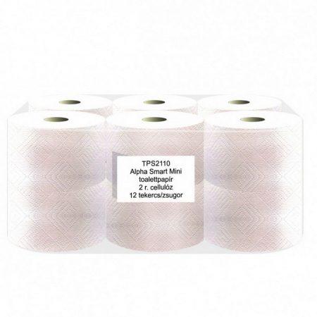 ALPHA Smart Mini 2 réteg cellulóz toalettpapír 110m 12 tekecs/csomag