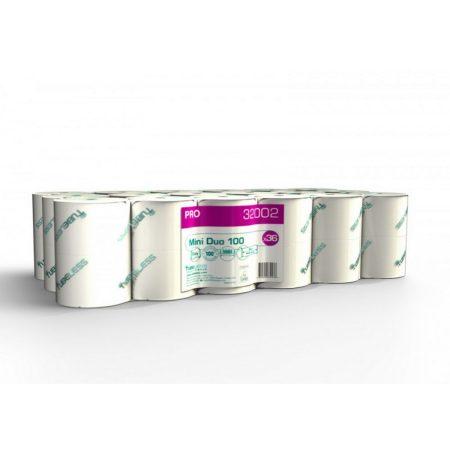 Tubeless Mini Duo toalettpapír 2 rétegű, fehér, 100% cellulóz, 101,5m 36 tek/zsugor