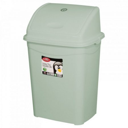 Billenőfedeles szemetes kuka, műanyag, ECO szürke, 26 literes (355x275x530mm) 10db/#