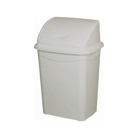 Billenőfedeles szemetes kuka, műanyag, eco szürke, 26 literes