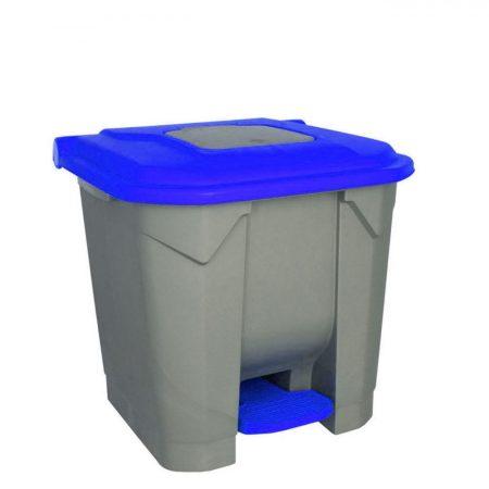 Szelektív hulladékgyűjtő konténer, műanyag, pedálos, KÉK, 30L
