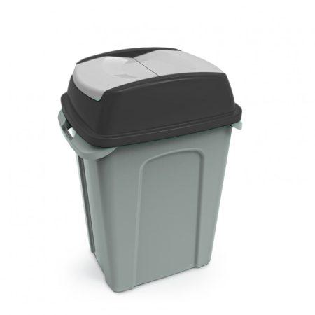 HIPPO Billenős Szelektív hulladékgyűjtő szemetes,műanyag, FEKETE, 50L