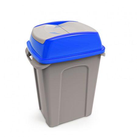Hippo Billenős Szelektív hulladékgyűjtő szemetes, műanyag, kék, 50L
