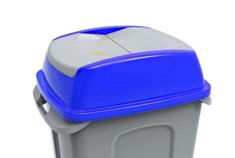 Hippo hulladékgyűjtő szemetes fedél, műanyag, kék, 50L