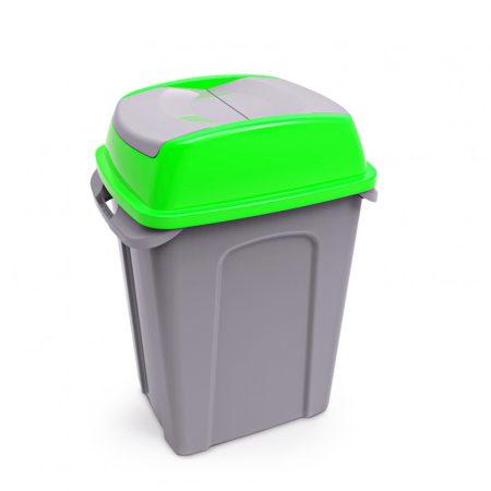 HIPPO Billenős Szelektív hulladékgyűjtő szemetes, műanyag, ZÖLD, 50L