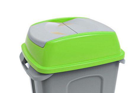 HIPPO hulladékgyűjtő szemetes fedél, műanyag, ZÖLD,50L 10/gyűjtő