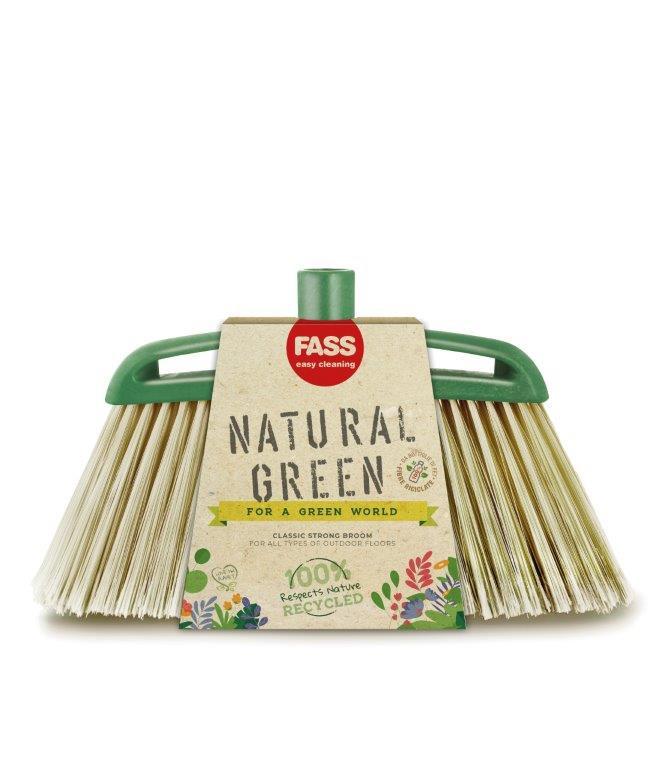 Fass Natural Green kültéri seprűfej zöld