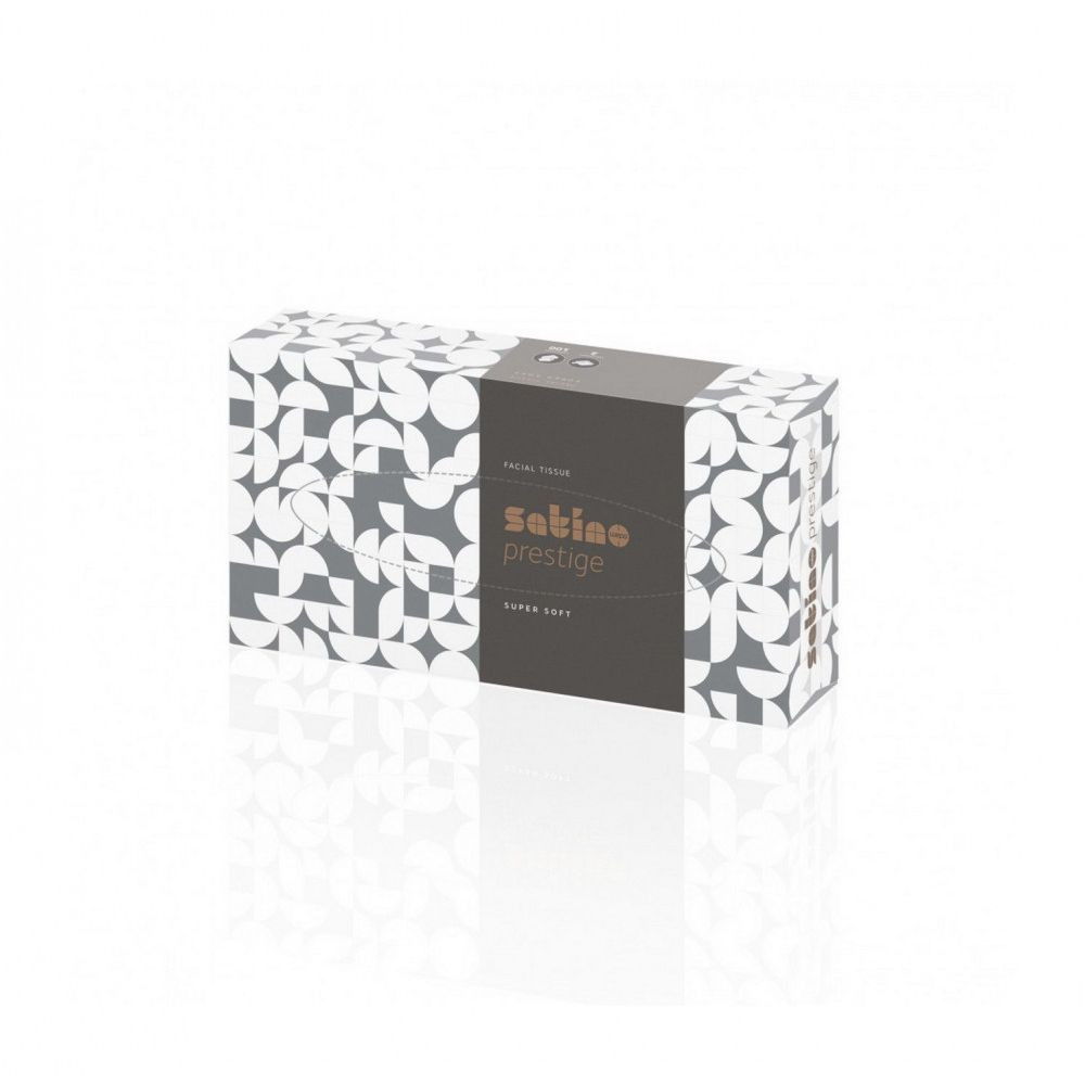 Satino Wepa Prestige kozmetikai kendő 2rétegű, fehér, 100lap/doboz, 40 doboz/karton