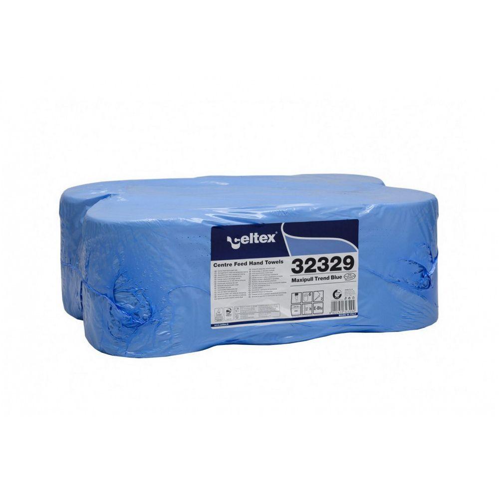 Celtex Maxipull Trend kék cellullóz, 2 réteg, 108m, 450 lap, 20x24cm, 6 tekercs/zsugor