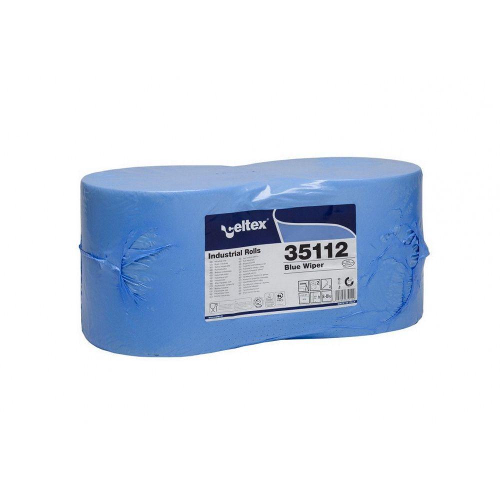 Celtex Blue Wiper ipari törlő kék cellulóz 2 réteg 970 lap, 291 méter, 24x30cm, 2 tekercs/zsugor