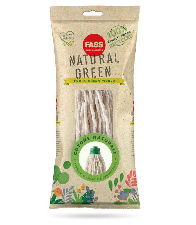 Fass Natural Green pamut felmosó fej 195 gramm