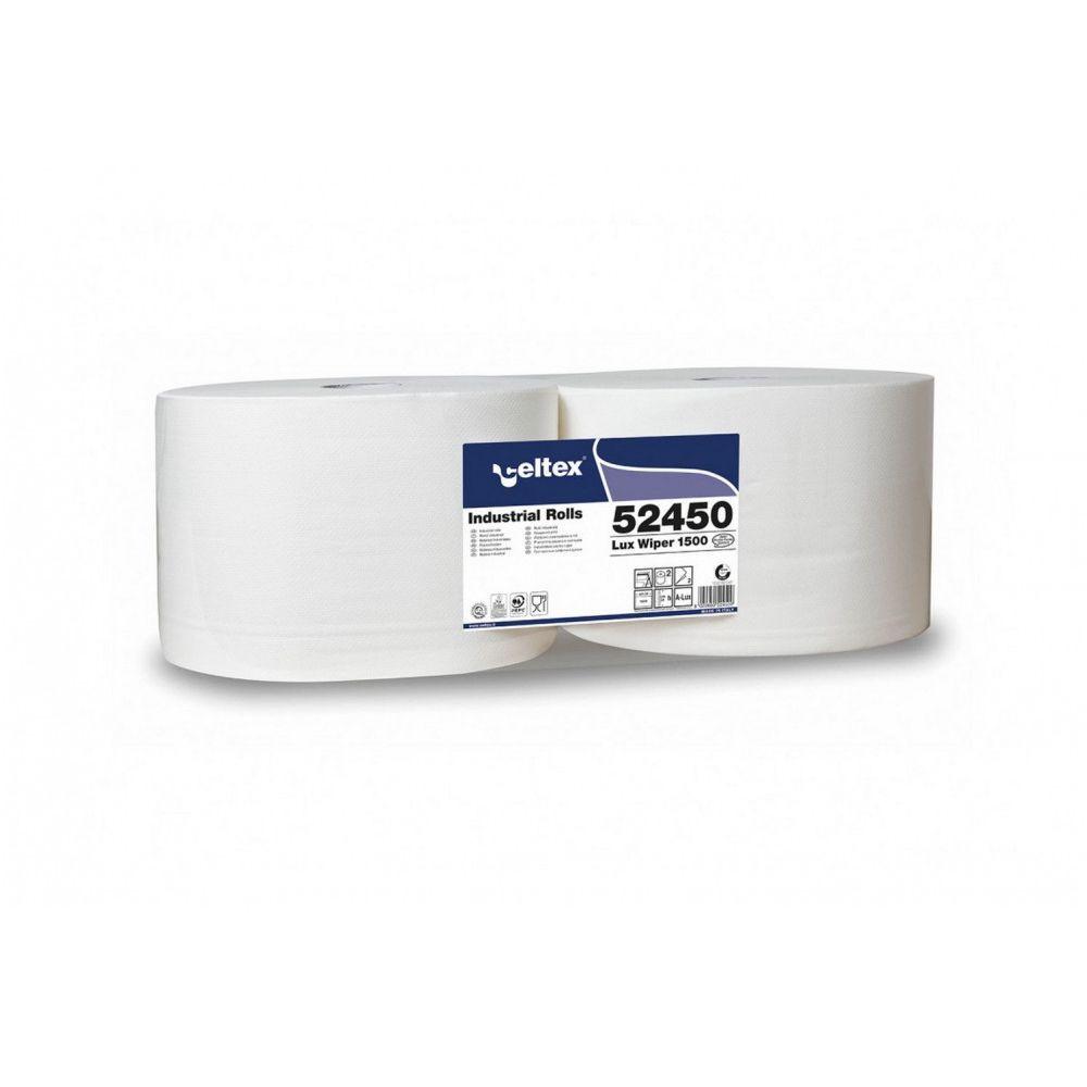 Celtex Lux Wiper 1500 ipari törlő cellulóz 2 réteg 510m, 1500 lap, 24x34cm, 2 tekercs/zsugor