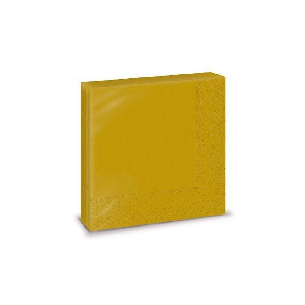Szalvéta, 33x33cm, arany, 2 rétegű, 20 lap/csomag, 30 csomag/karton