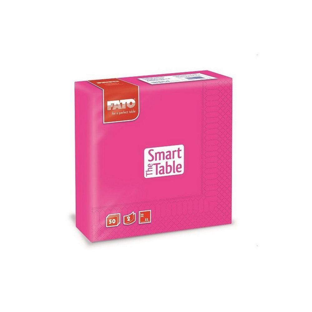 Szalvéta, 33x33cm, fuxia, 2 rétegű, 50 lap/csomag, 24 csomag/karton