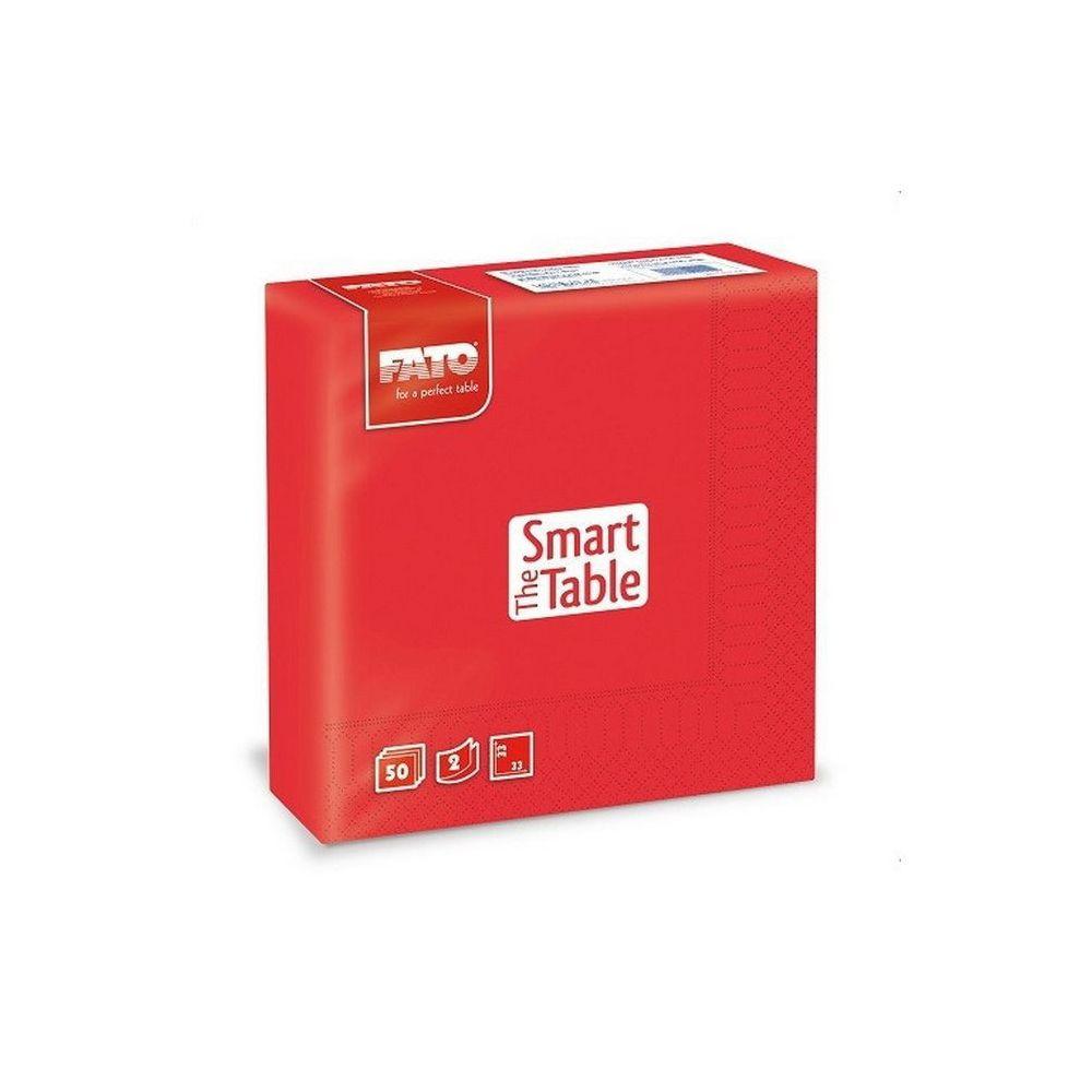 Szalvéta, 33x33cm, piros, 2 rétegű, 50 lap/csomag, 24 csomag/karton