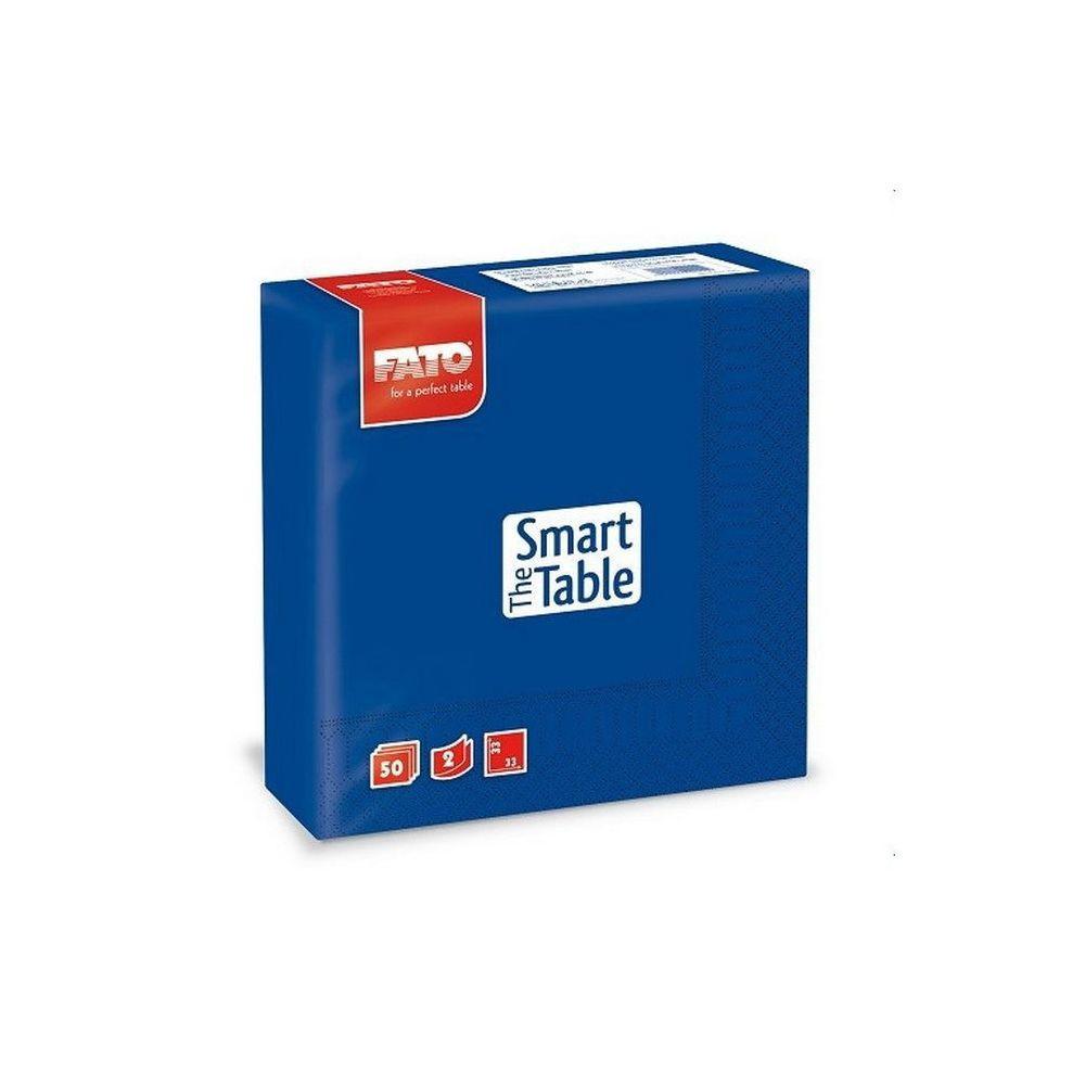 Szalvéta, 33x33cm, éjkék, sötétkék, 2 rétegű, 50 lap/csomag, 24 csomag/karton
