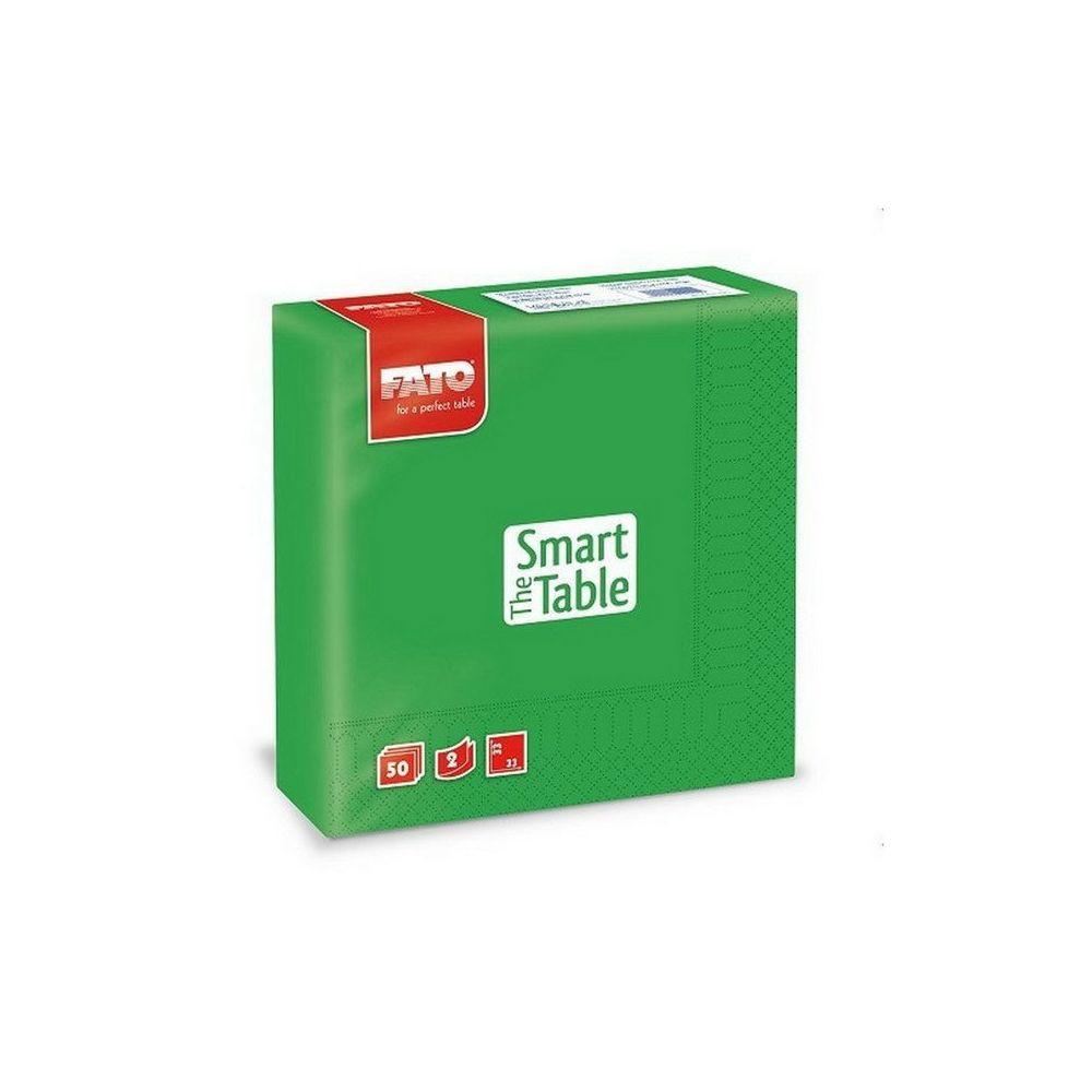 Szalvéta, 33x33cm, smaragdzöld, 2 rétegű, 50 lap/csomag, 24 csomag/karton