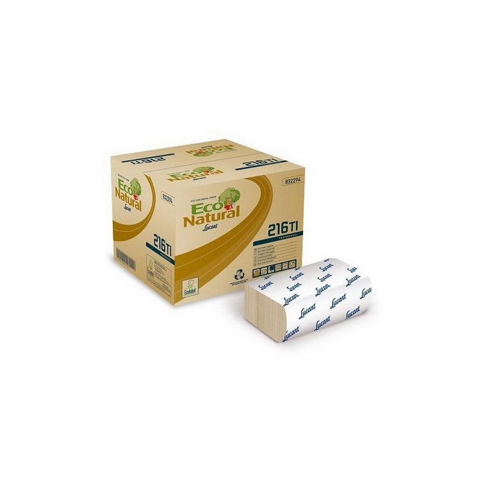 Lucart ECO Natural L-One hajtogatott szalvéta 150 lapos, 2 rétegű, 40 csomag/karton 36 karton/raklap