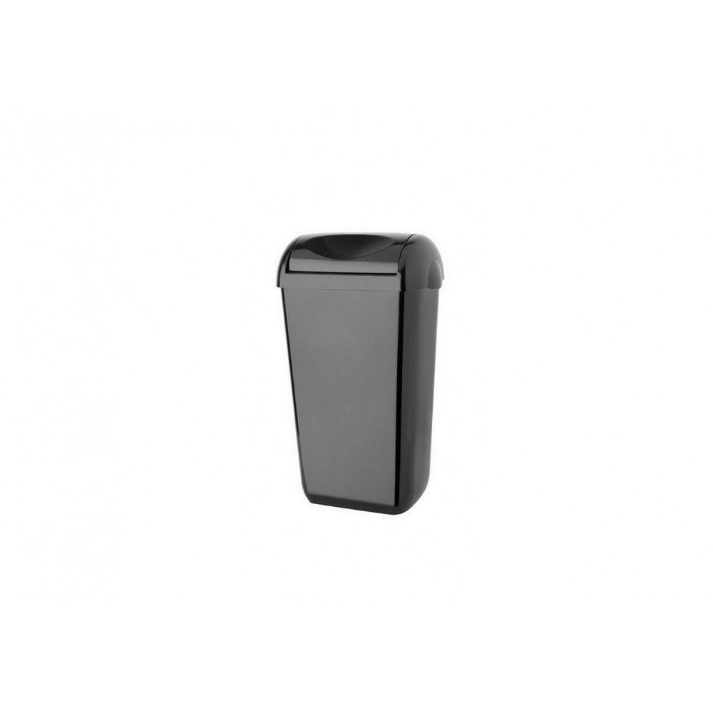 Celtex falra szerelhető, nyitott fedeles kuka, 23 literes fekete