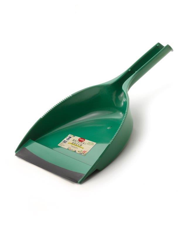 Fass Natural Green szemetes lapát gumi éllel zöld