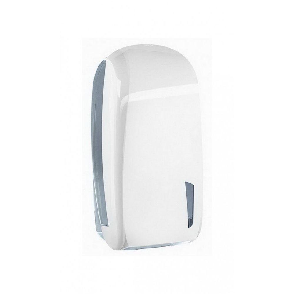 Mar plast Linea SKIN hajtogatott toalettpapír adagoló fehér/átlátszó