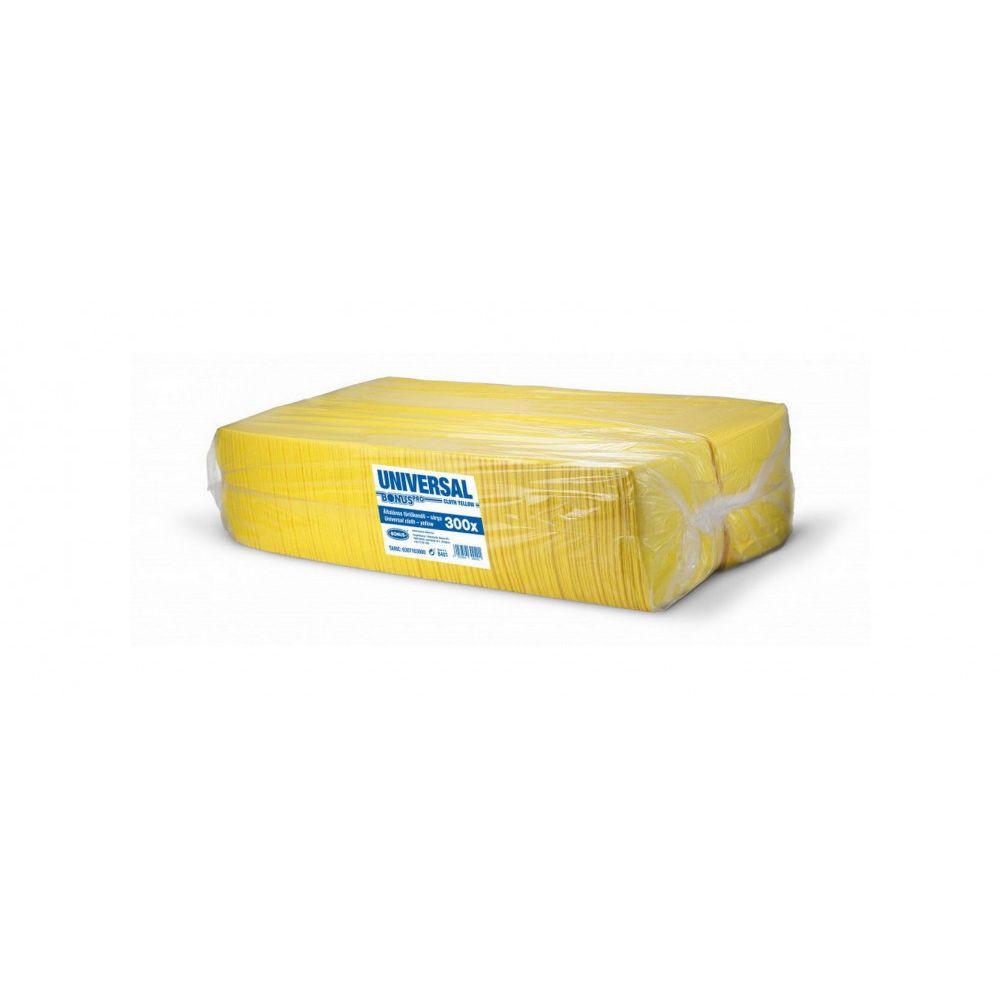 Bonus Univerzális sárga törlőkendő 36x36cm 300 darabos