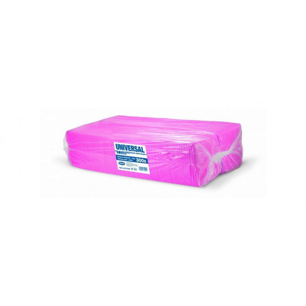 Bonus Univerzális pink törlőkendő 36x36cm 300 darabos