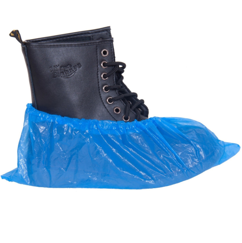 Cipővédő, lábzsák PE anyagból, kék, 15x39cm 100 darab/csomag