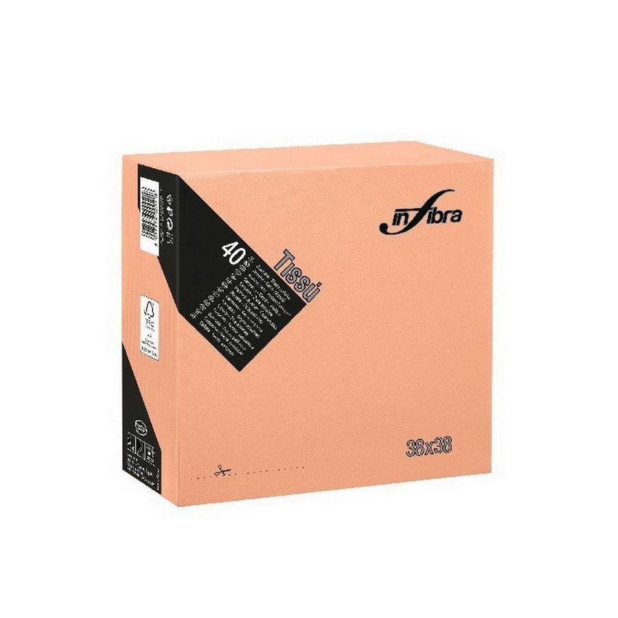 Infibra Szalvéta 38x38cm Barack 2 réteg 40 lap/csomag (36 csomag/karton)
