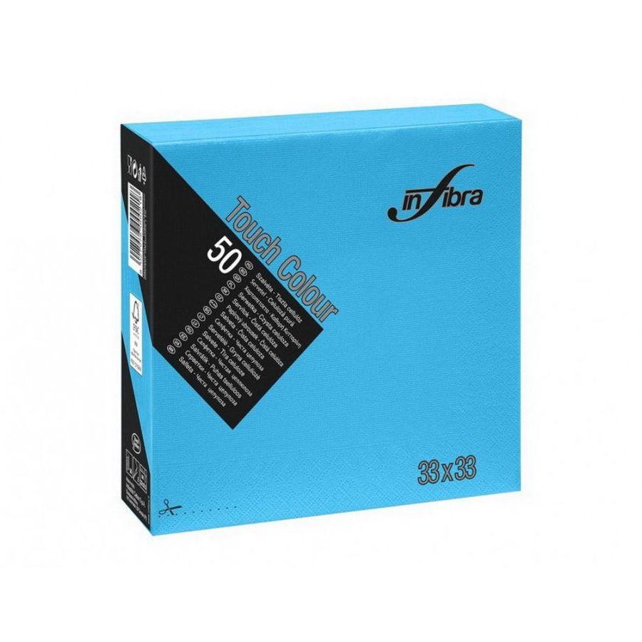 Infibra Szalvéta 33x33cm türkiz 2 réteg 50 lap/csomag (24 csomag/karton)
