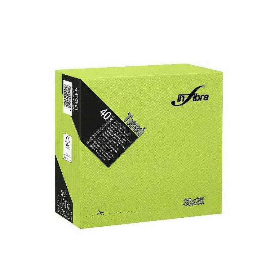 Infibra Szalvéta 38x38cm Almazöld 2 réteg 40 lap/csomag (36 csomag/karton)