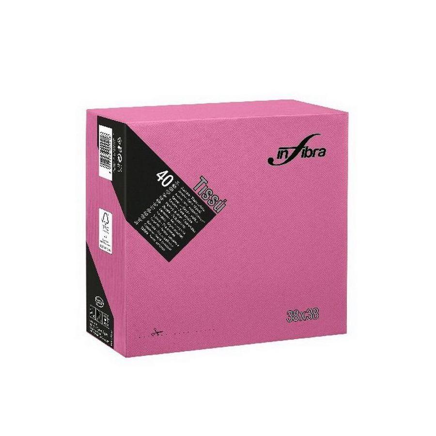 Infibra Szalvéta 38x38cm Lila 2 réteg 40 lap/csomag (36 csomag/karton)
