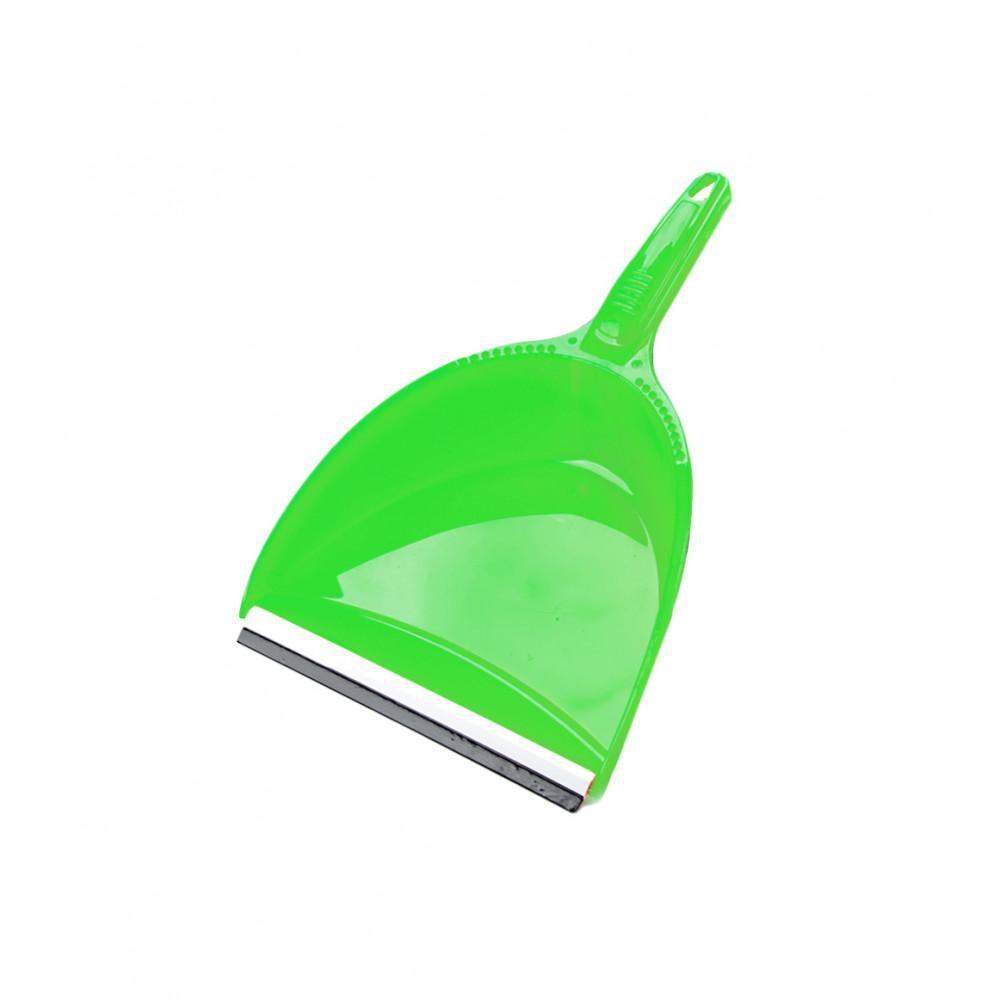 Szemeteslapát műanyag zöld