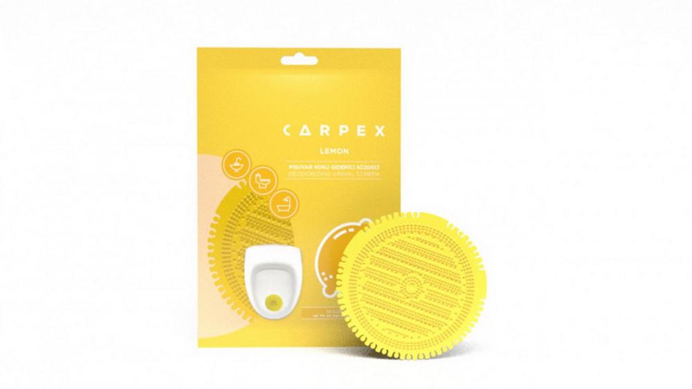 Piszoár illatosító rács Carpex, citrus (sárga)