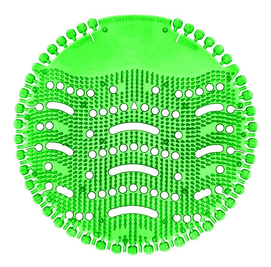 Piszoár illatosító rács Wave, menta (sötét zöld)