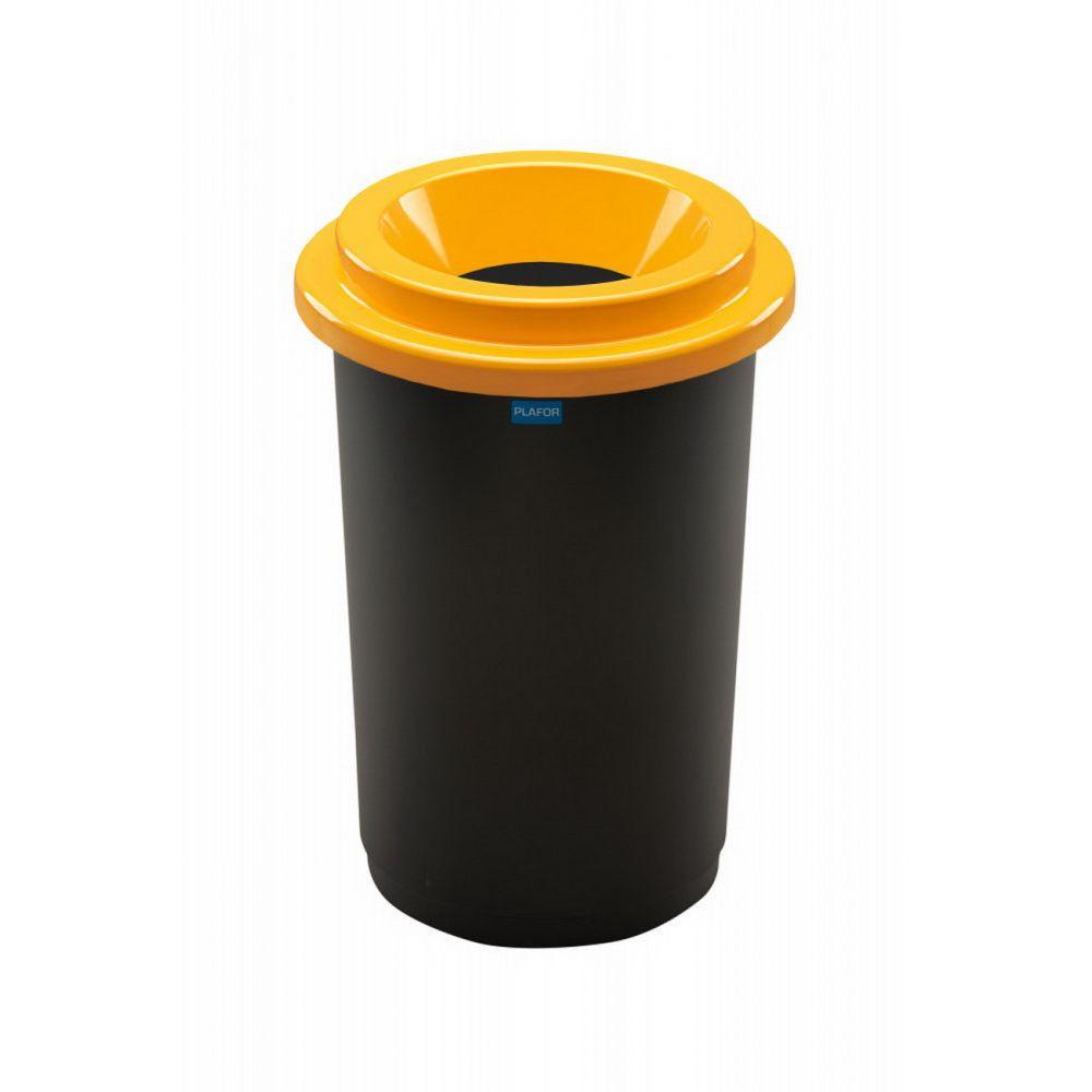 Plafor ECO kerek, henger szemetes 50L fekete/sárga