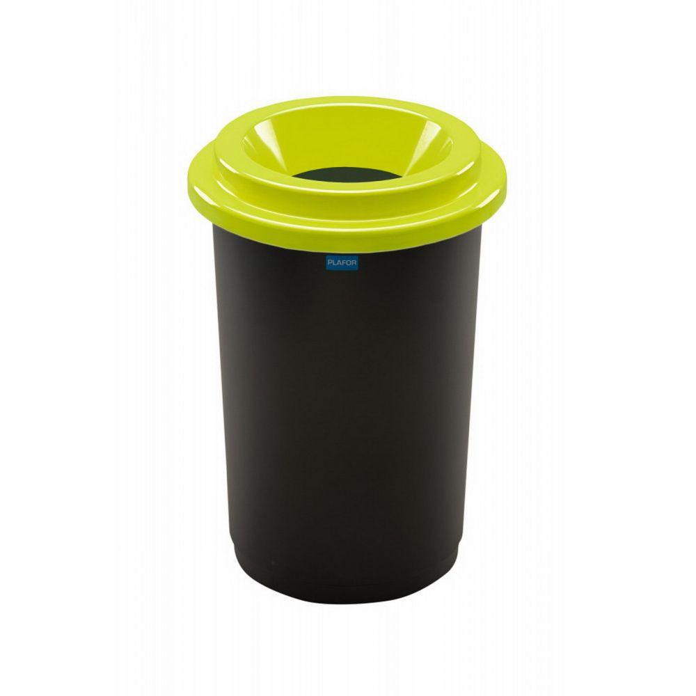 Plafor ECO kerek, henger szemetes 50L fekete/zöld