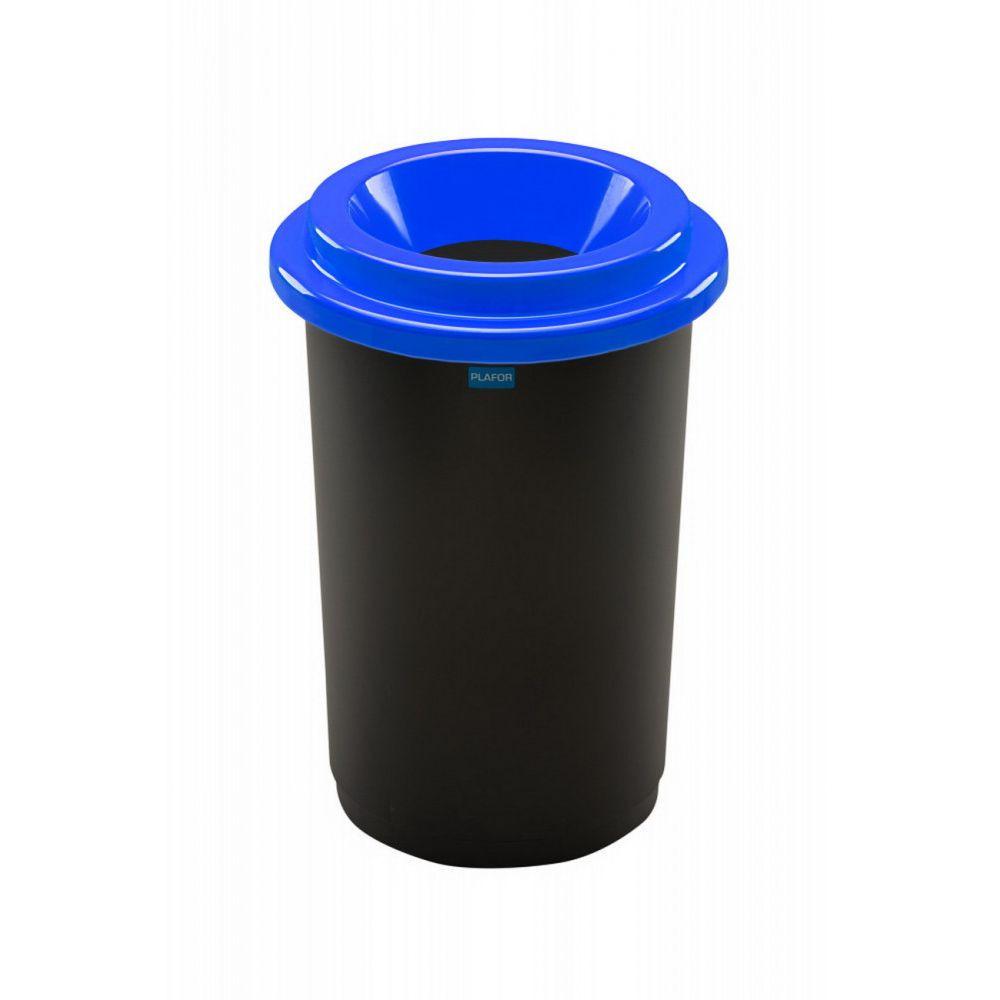 Plafor ECO kerek, henger szemetes 50L fekete/kék