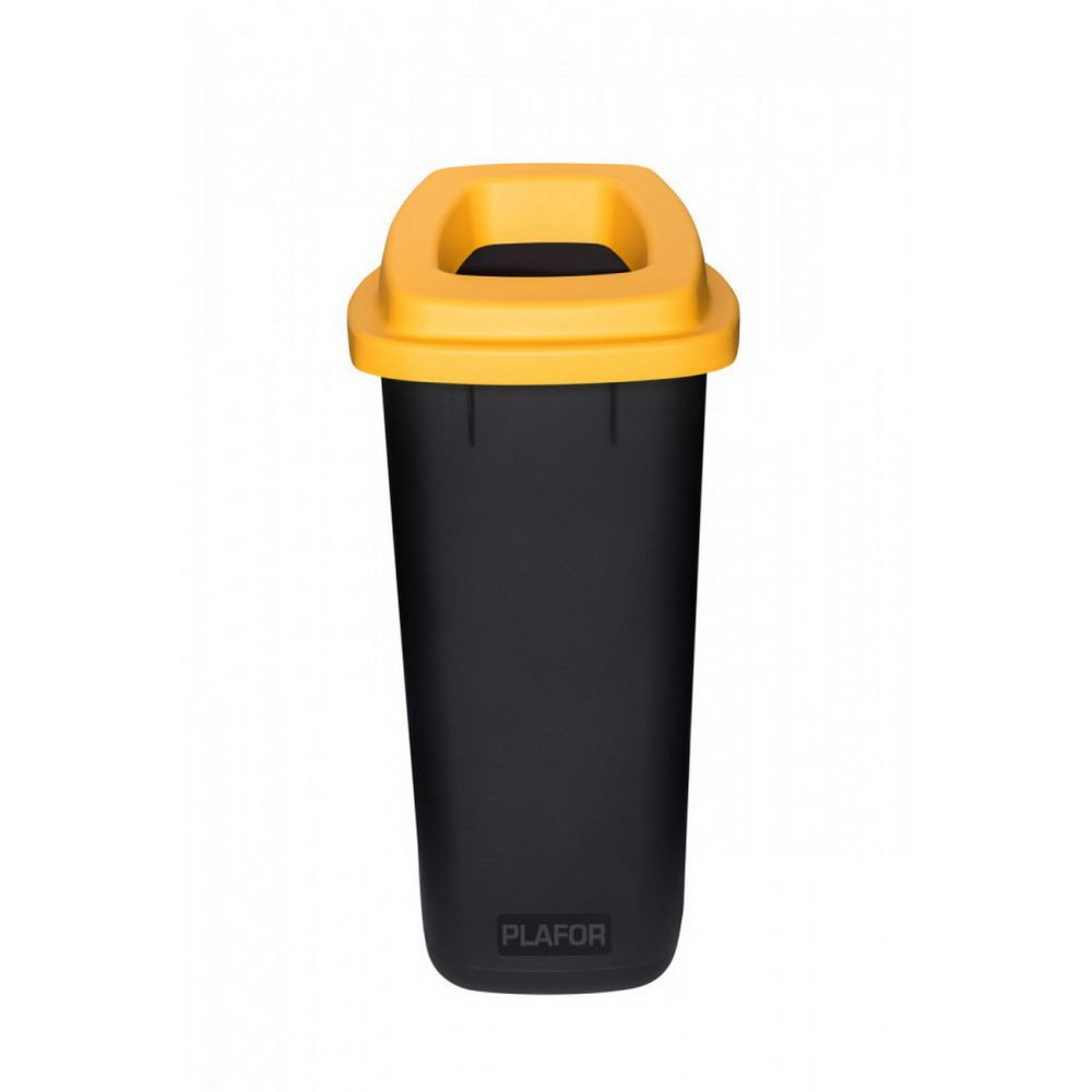 Plafor Sort szelektív hulladékgyűjtő, szemetes 90L fekete/sárga