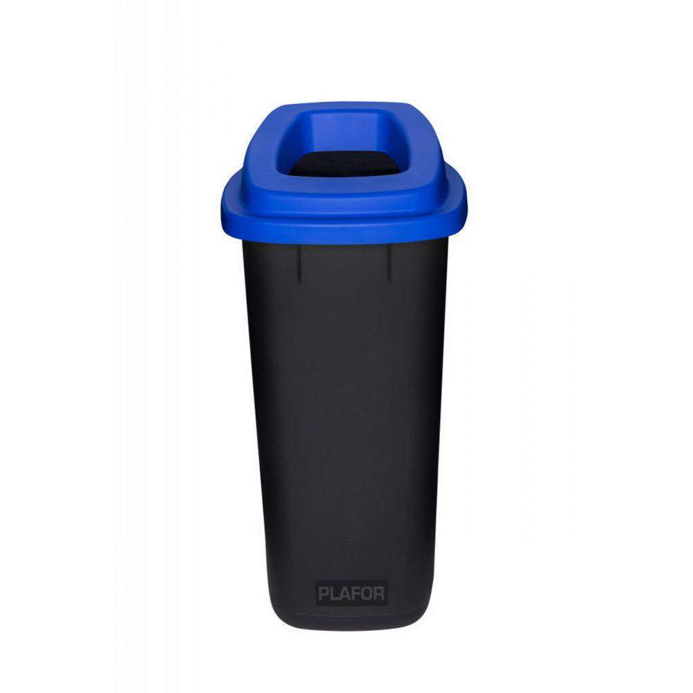 Plafor Sort szelektív hulladékgyűjtő, szemetes 90L fekete/kék