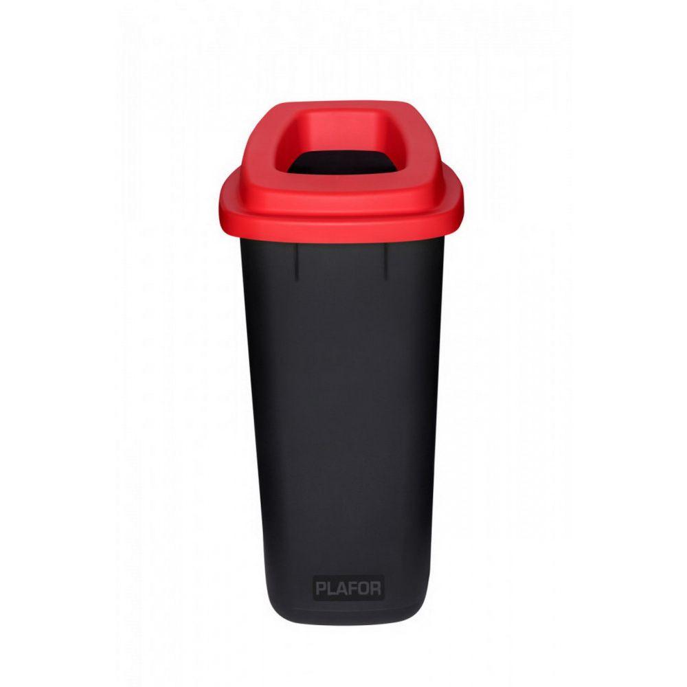 Plafor Sort szelektív hulladékgyűjtő, szemetes 90L fekete/piros