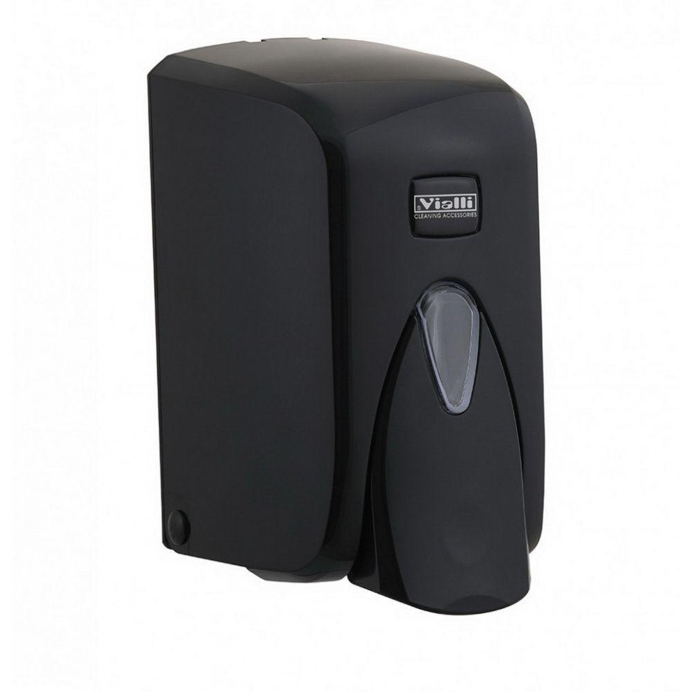 Vialli Folyékony szappan adagoló, zárható, ABS műanyag, fekete 500 ml, 24db/karton
