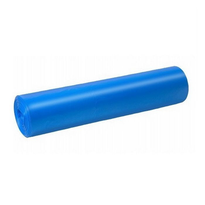 Szemeteszsák kék 60x70 15mikron 60L 20db/roll 25roll/csomag 500db