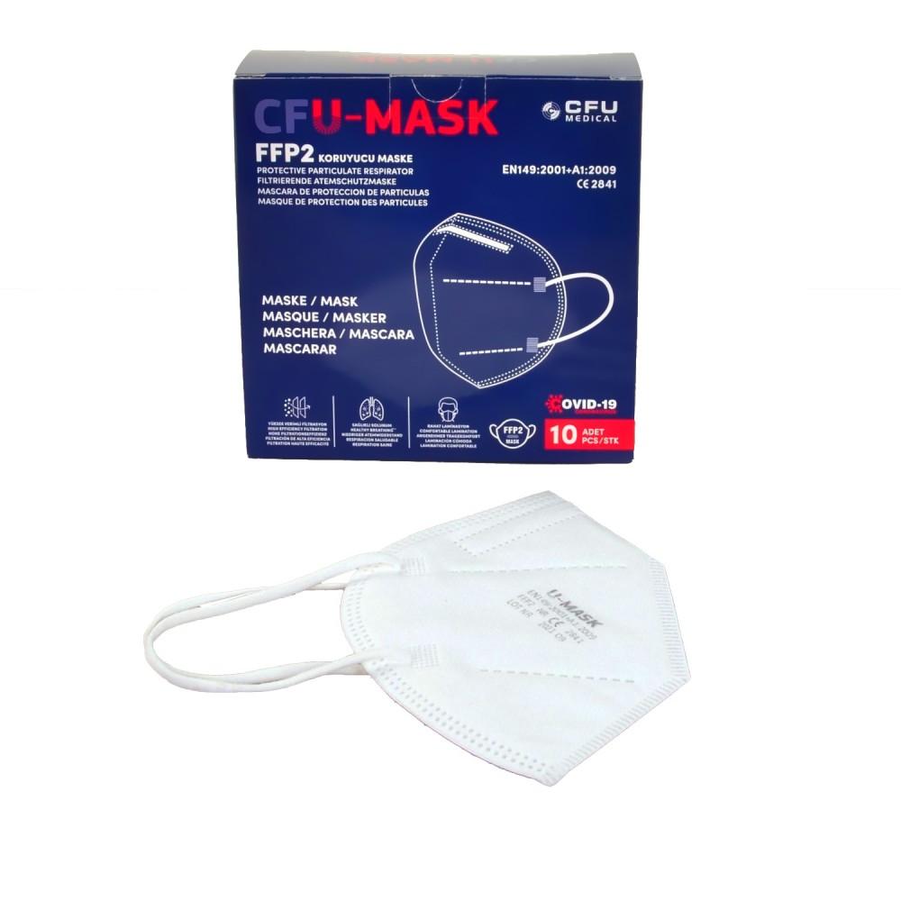 Szájmaszk U-MASK FFP2 1db/csomag, 10 db/doboz