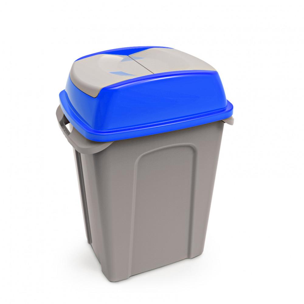 Hippo Billenős Szelektív hulladékgyűjtő szemetes,műanyag, kék, 70L