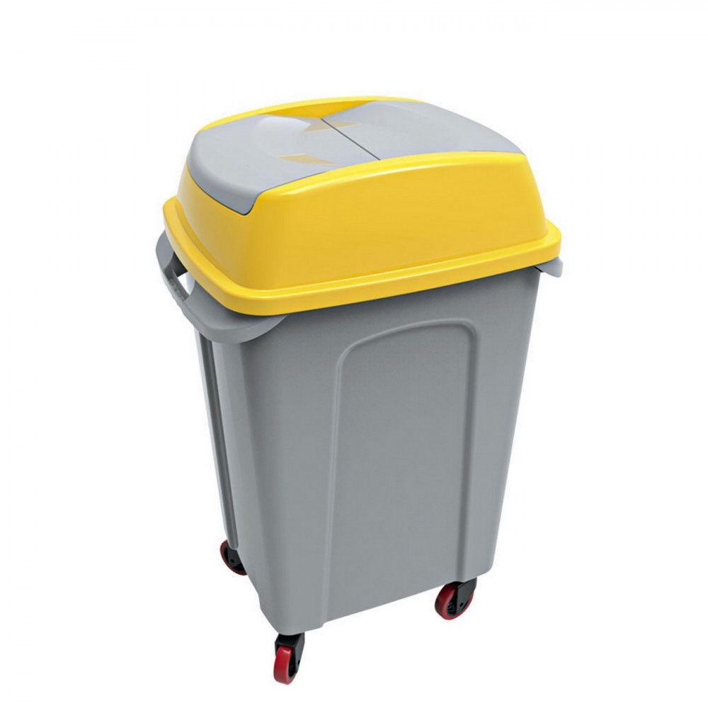 Hippo Billenős Szelektív hulladékgyűjtő szemetes,műanyag, sárga, 70L