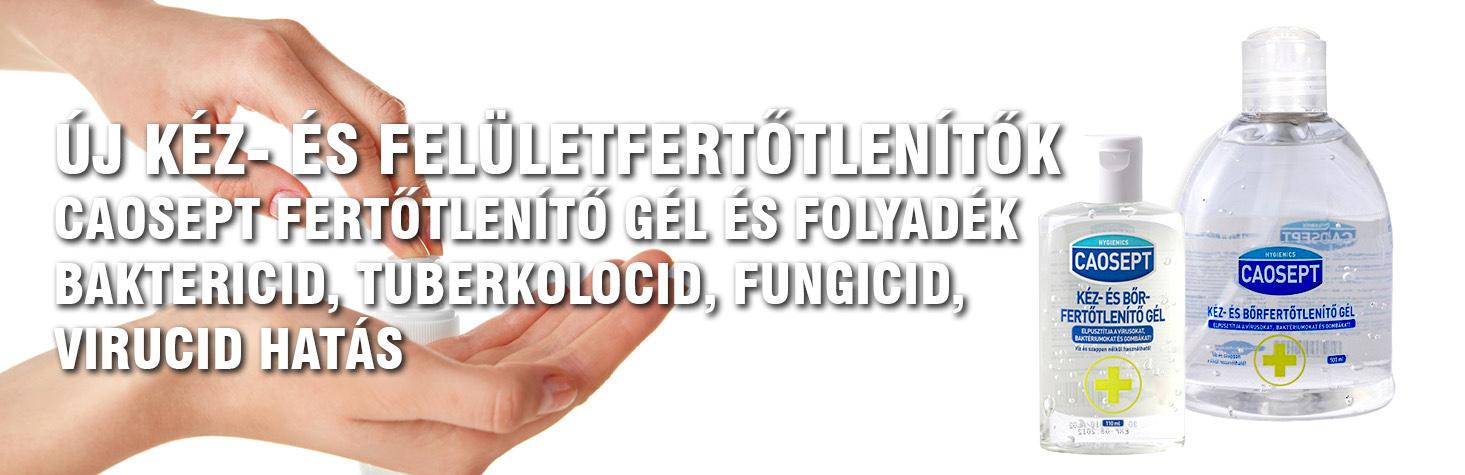 Kézfertőtlenítő gél, kézfertőtlenítő folyadék, fertőtelnítő gél, fertőtlenítő folyadék, caosept, felületfertőtelnítő, fertőtlenítő
